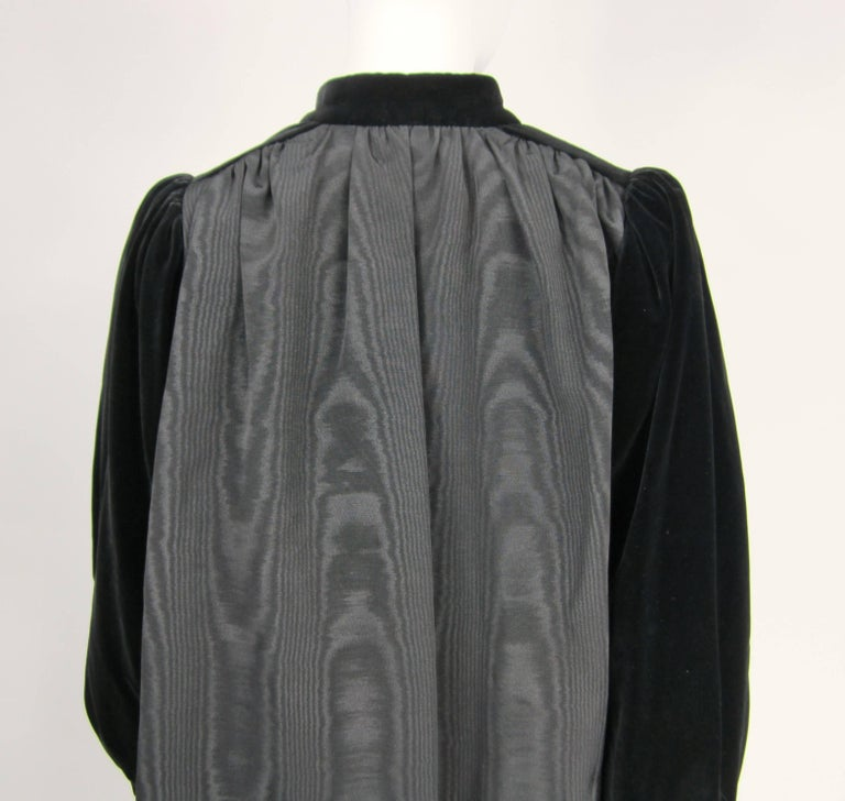 Women's VIntage 1970s Yves Saint Laurent Black Velvet Russian Collection 1976 Jacket  For Sale