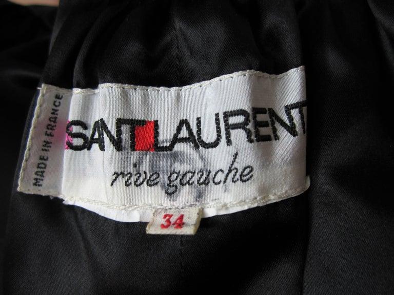 VIntage 1970s Yves Saint Laurent Black Velvet Russian Collection 1976 Jacket  For Sale 1