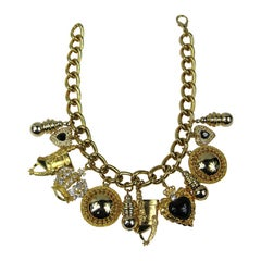 Karl Lagerfeld Chunky Charm Necklace 1990s Never Worn