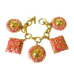 Vintage Escada 1980s Charm Bracelet Never Worn