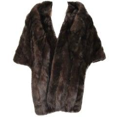 Vintage Dark Ranch Mink 1960s Stole - shawl