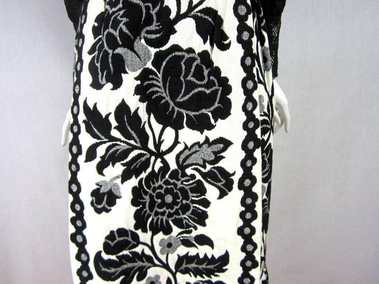 Vintage 1970's Black Hot Pants - Shorts & Wrap Maxi Skirt Mignon For Sale 2