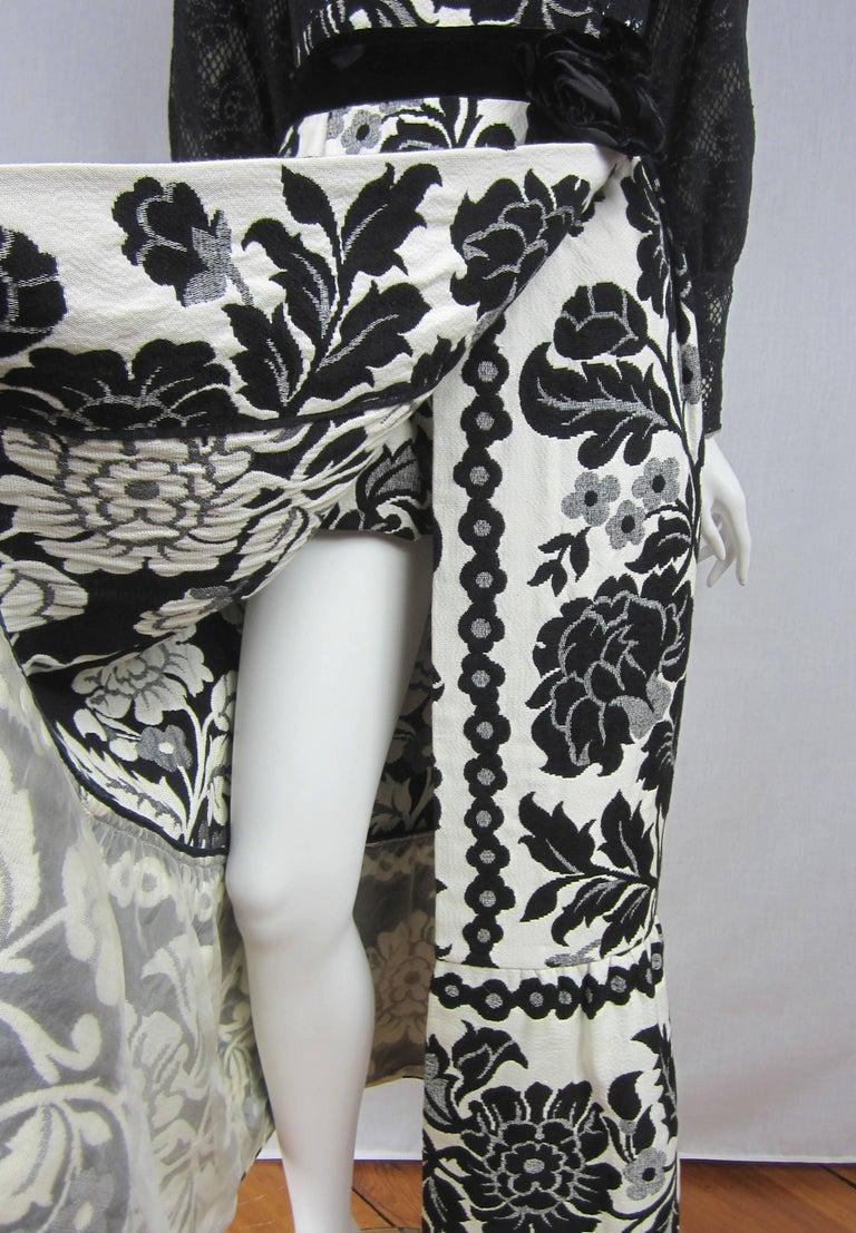 Vintage 1970's Black Hot Pants - Shorts & Wrap Maxi Skirt Mignon For Sale 3