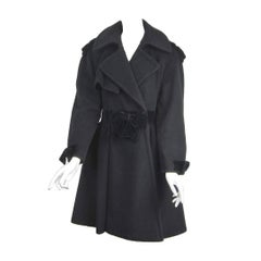 Moschino Cheap & Chic Wool Coat Bows & Bows