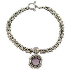 1997 Stephen Dweck Amethyst Sterling Silver Amethyst  Necklace never worn