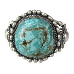 Navajo Native American Sterling silver Turquoise bracelet Pawn Cuff