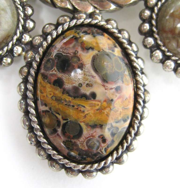 Massive Sterling Stephen Dweck Jasper Brooch New never worn 1990s In New Condition For Sale In Wallkill, NY
