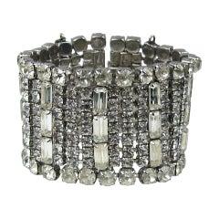 Vintage Kramer Rhinestone Hollywood Glam Bracelet