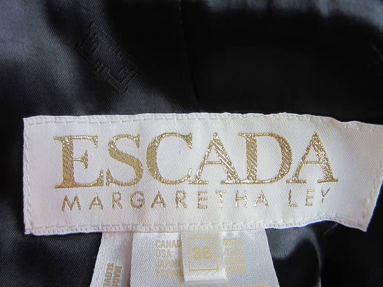 1990s Escada Silver Gray Metallic Reptile Leather Coat New Never worn  For Sale 1