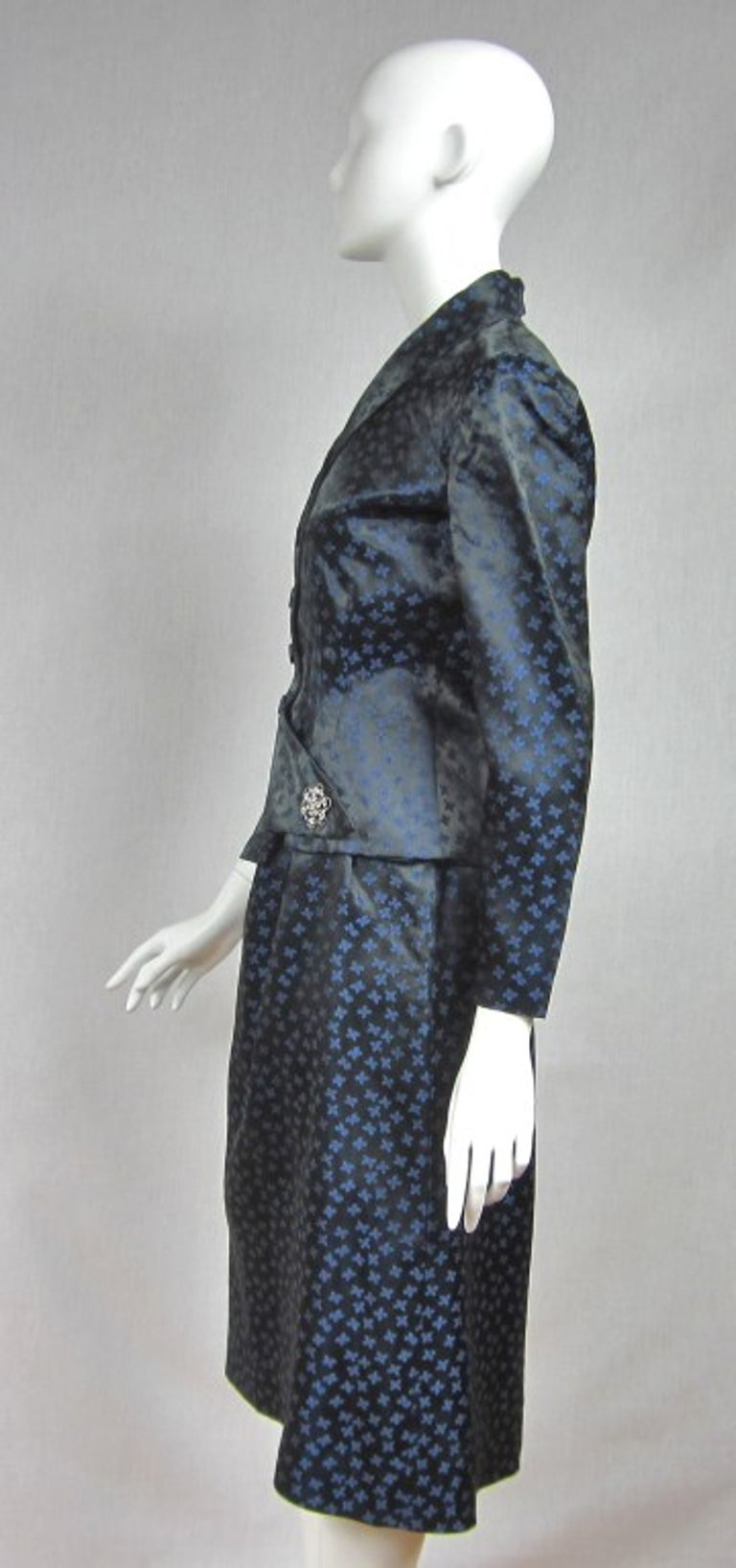 1940s Deep Blue Halter Dress & Peplum Jacket Shrug  In Good Condition For Sale In Wallkill, NY
