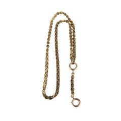 Antique 10K Rose Gold Watch Book Chain