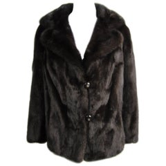 Vintage 1960s Dark Ranch Mink fur Jacket By M Blaustein
