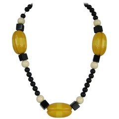 Vintage 1950s Alexis Kirk Bakelite Beaded Necklace