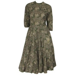 Vintage 1960's James Galanos Double Layered Skirt Dress