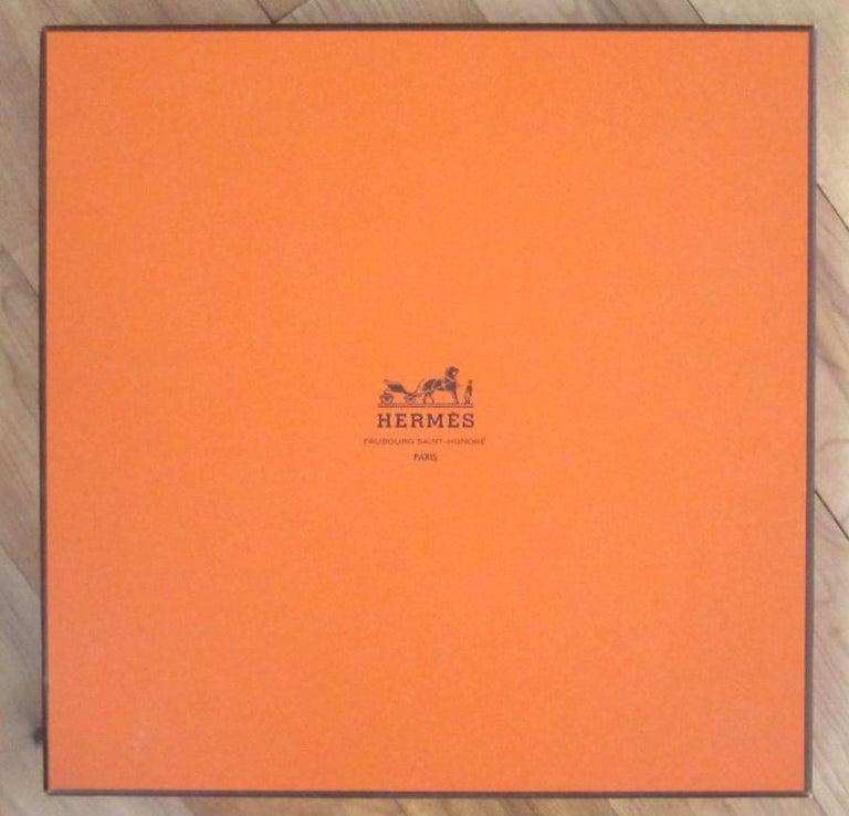 Hermes Silk Scarf EN PISTE Horses Robert Dallet 1990s New, Never Worn  For Sale 5