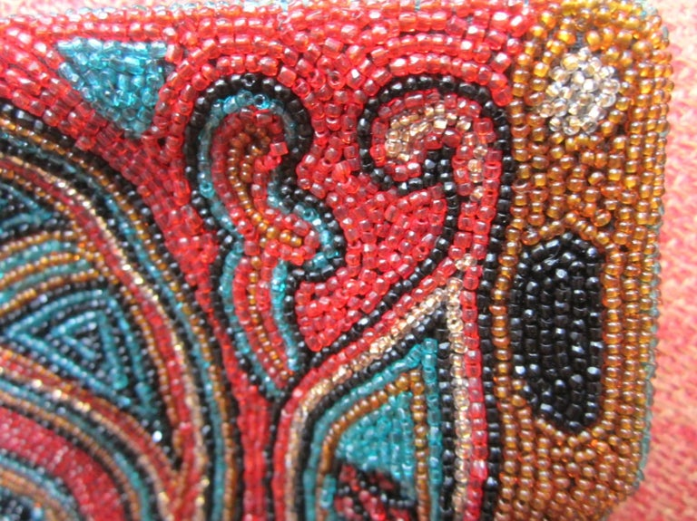 Rich Jeweled Tone Walborg Beaded Clutch Purse 1940s Vintage  In Good Condition For Sale In Wallkill, NY