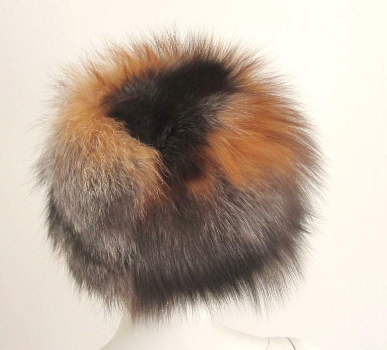 Red and Silver Fox Fur Hat  In Good Condition For Sale In Wallkill, NY
