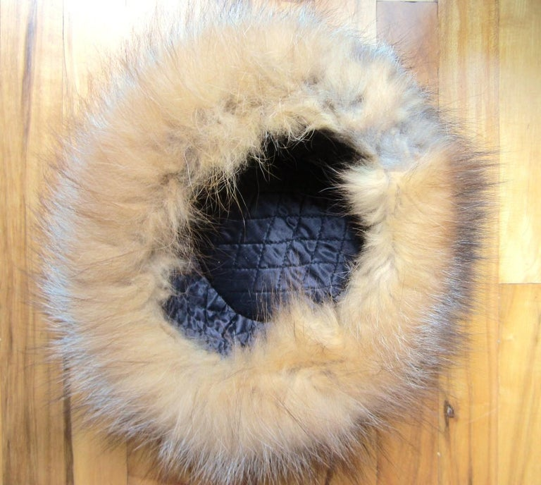 Red and Silver Fox Fur Hat  For Sale 1