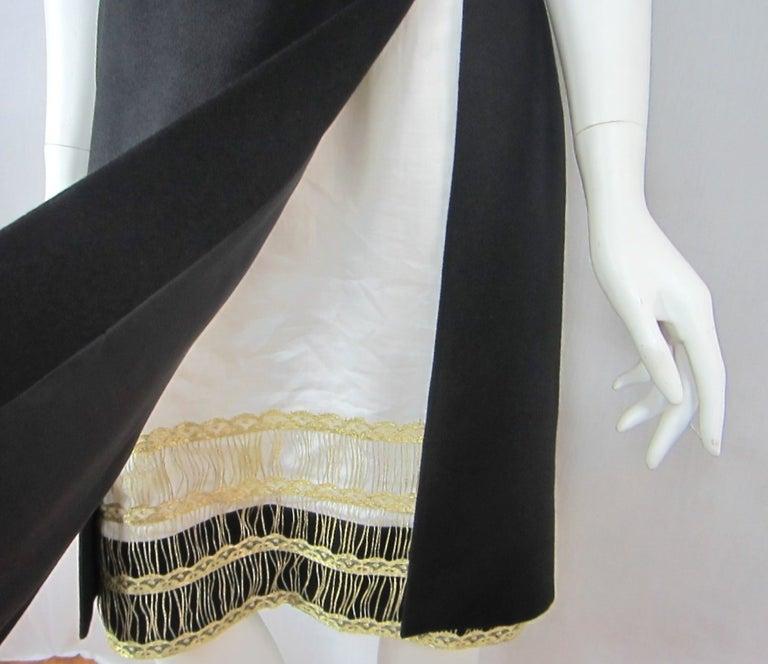 Women's Yves Saint Laurent YSL Strapless Cashmere Little black dress 1990s For Sale