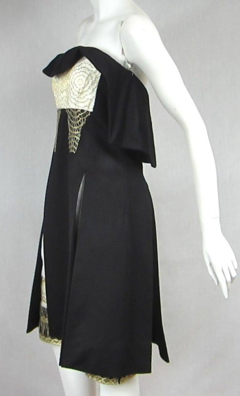 Yves Saint Laurent YSL Strapless Cashmere Little black dress 1990s For Sale 1