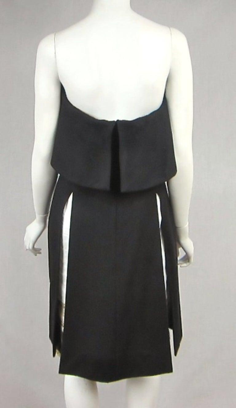 Yves Saint Laurent YSL Strapless Cashmere Little black dress 1990s For Sale 2