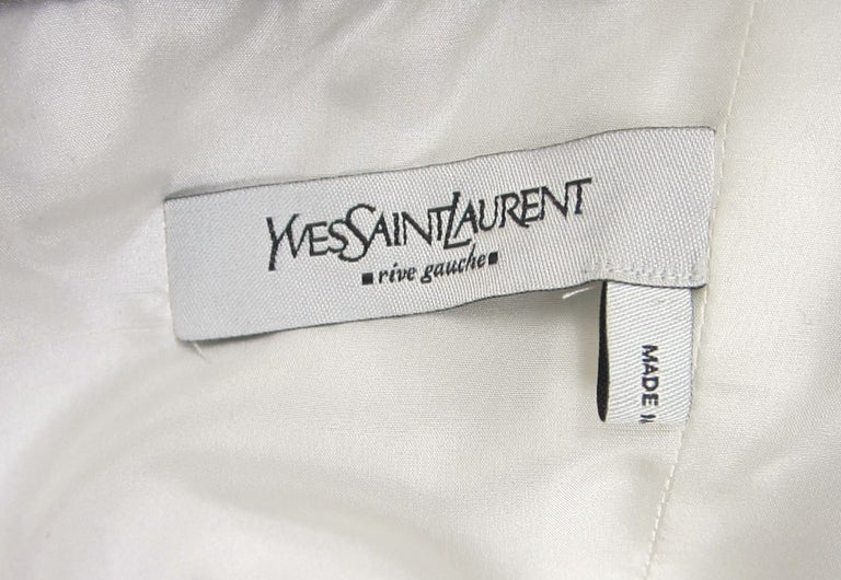 Yves Saint Laurent YSL Strapless Cashmere Little black dress 1990s For Sale 3