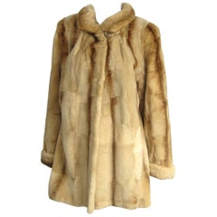 "Sheared Fur Mink Vintage Short Jacket Coat ""shearing look"""