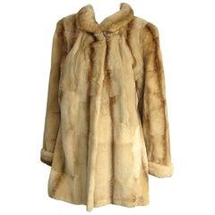 "Sheared Fur Mink Vintage Short Jacket Coat ""shearing look"""