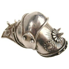 Large Articulated Sterling Silver Armor Shield Ring Viking Goth