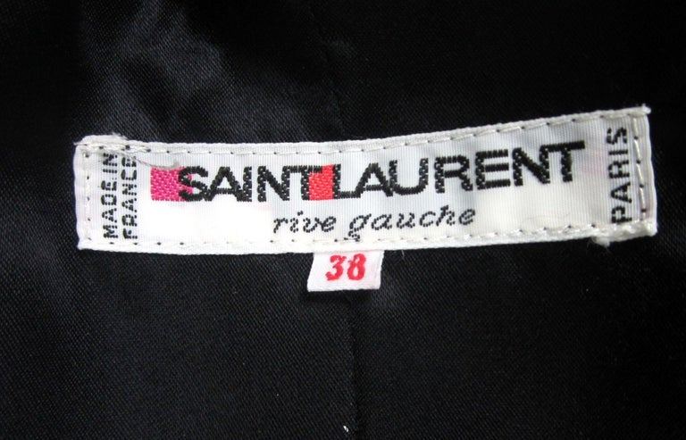 Yves Saint Laurent YSL Collection Silk Gown Velvet Black  For Sale 4