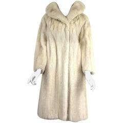 Pearl Mink Portrait Collar Stroller Coat Jacket Bonwit Teller