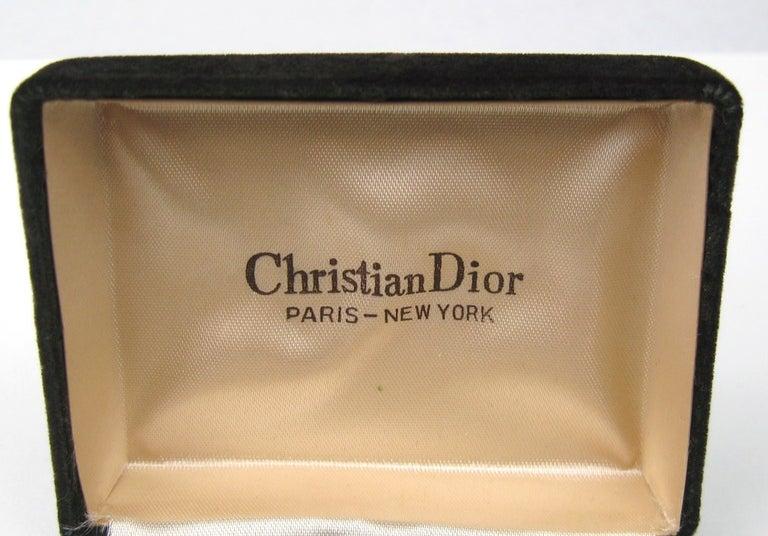 Christian Dior Men's Cuff links in original Box  For Sale 1