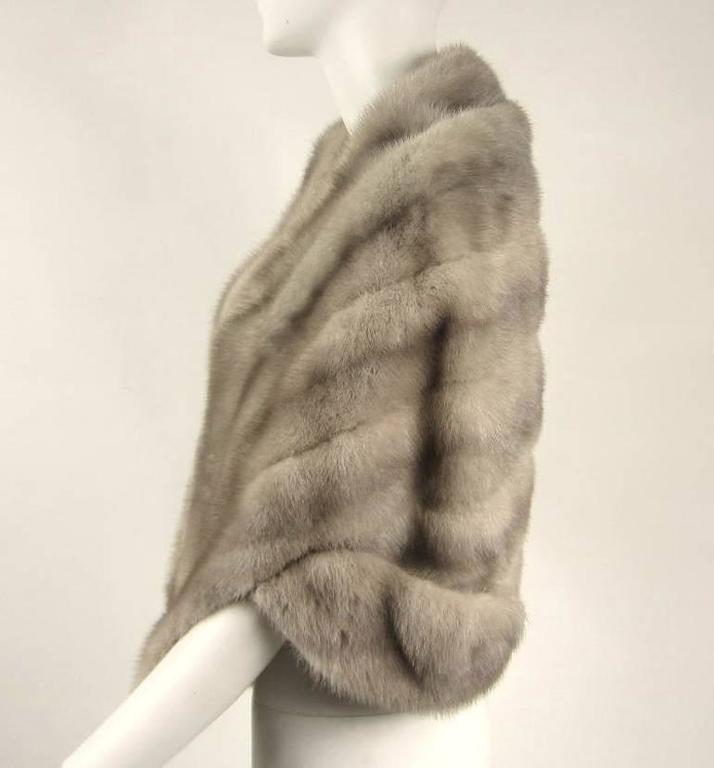1960s Sapphire Mink Fur Stole Cape Paris  2