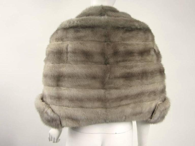 1960s Sapphire Mink Fur Stole Cape Paris  3
