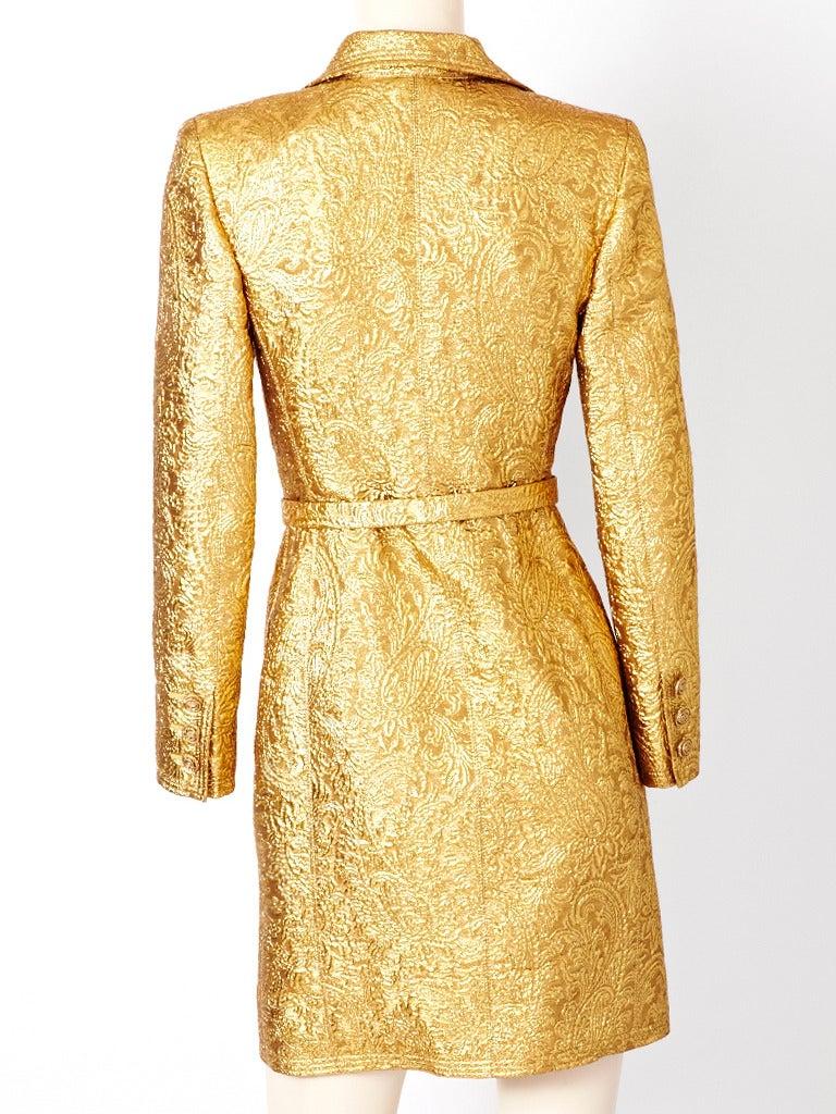 Ungaro Brocade Coat Dress 3