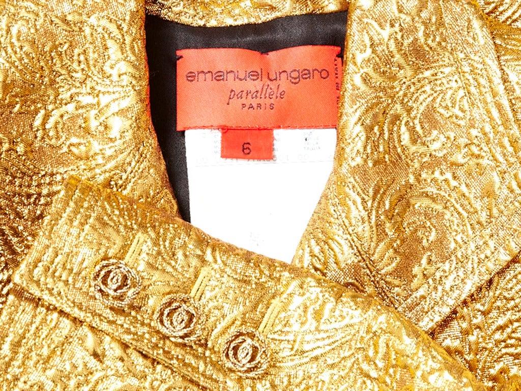 Ungaro Brocade Coat Dress 4