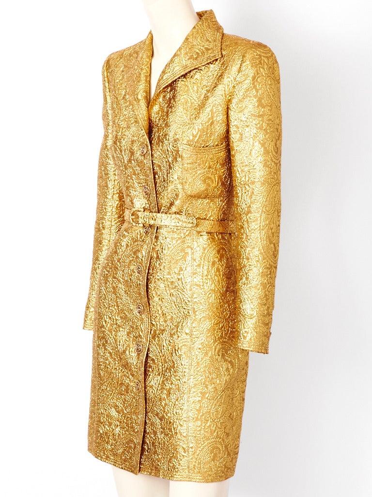 Ungaro Brocade Coat Dress 2