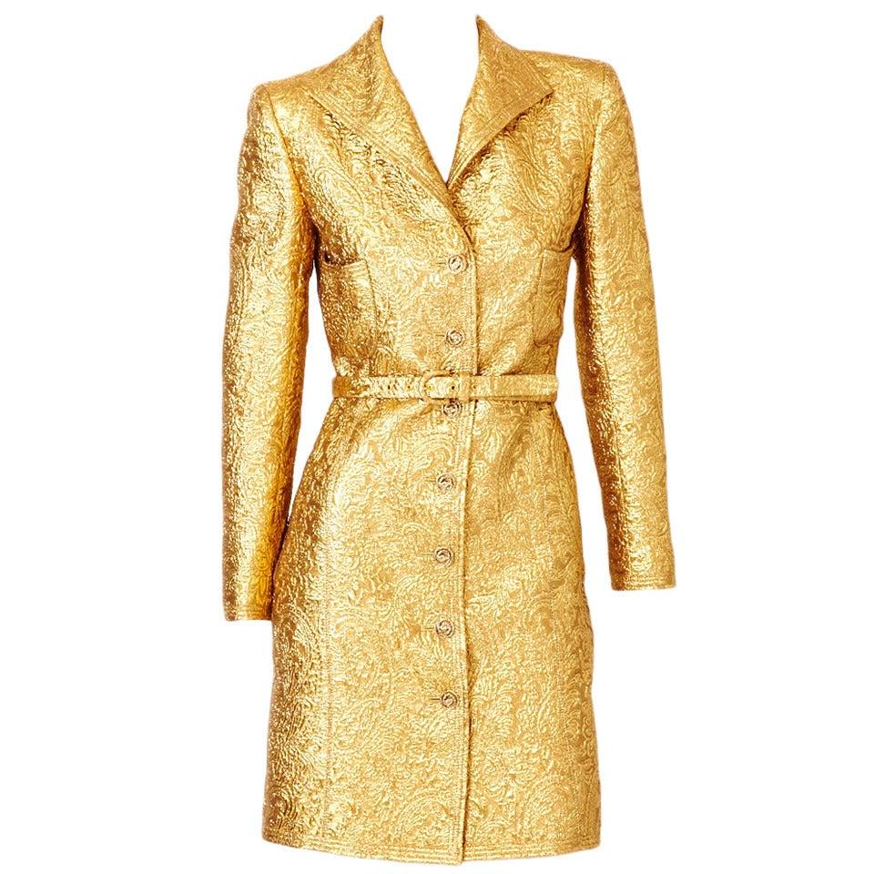 Ungaro Brocade Coat Dress 1