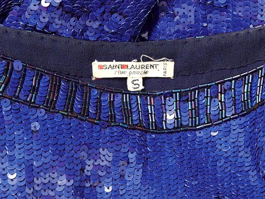 Yves Saint Laurent Sapphire Blue Sequined Tunic 4