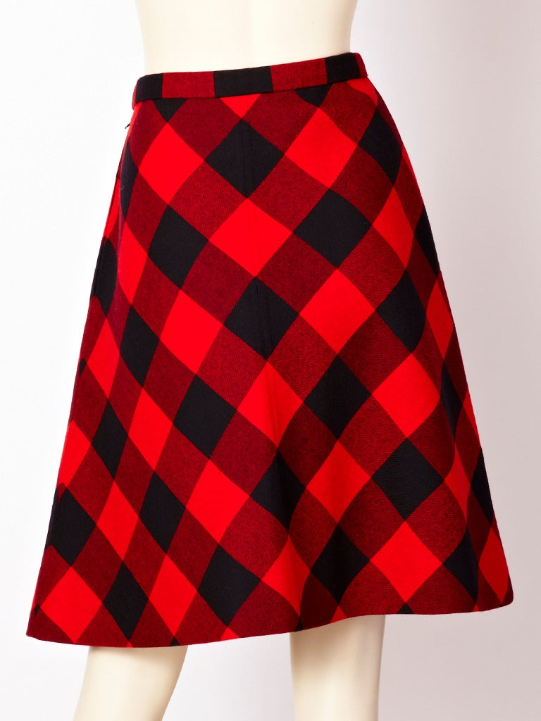Valentino Couture Plaid Skirt In Excellent Condition For Sale In New York, NY