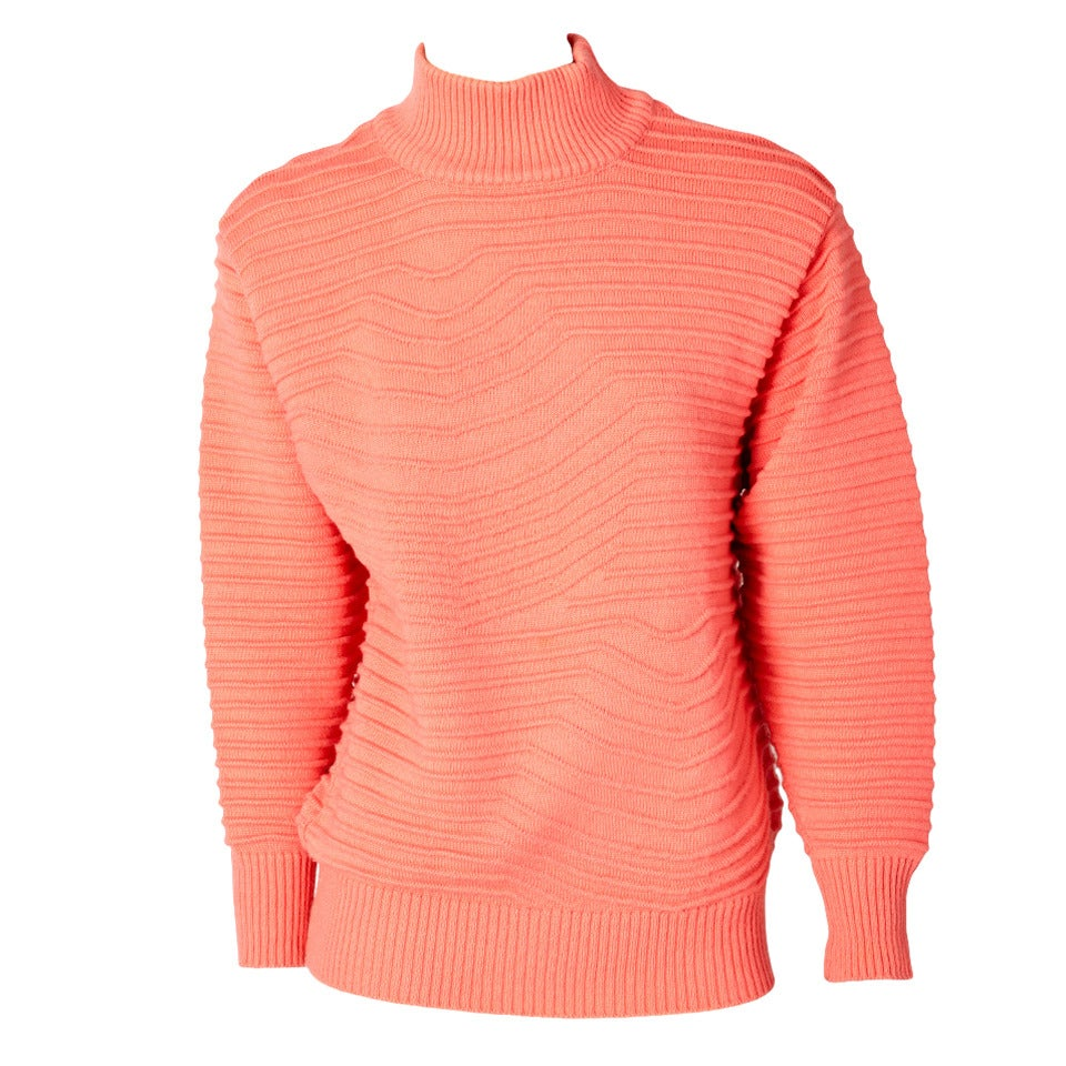 Courreges Turtleneck Sweater For Sale at 1stdibs