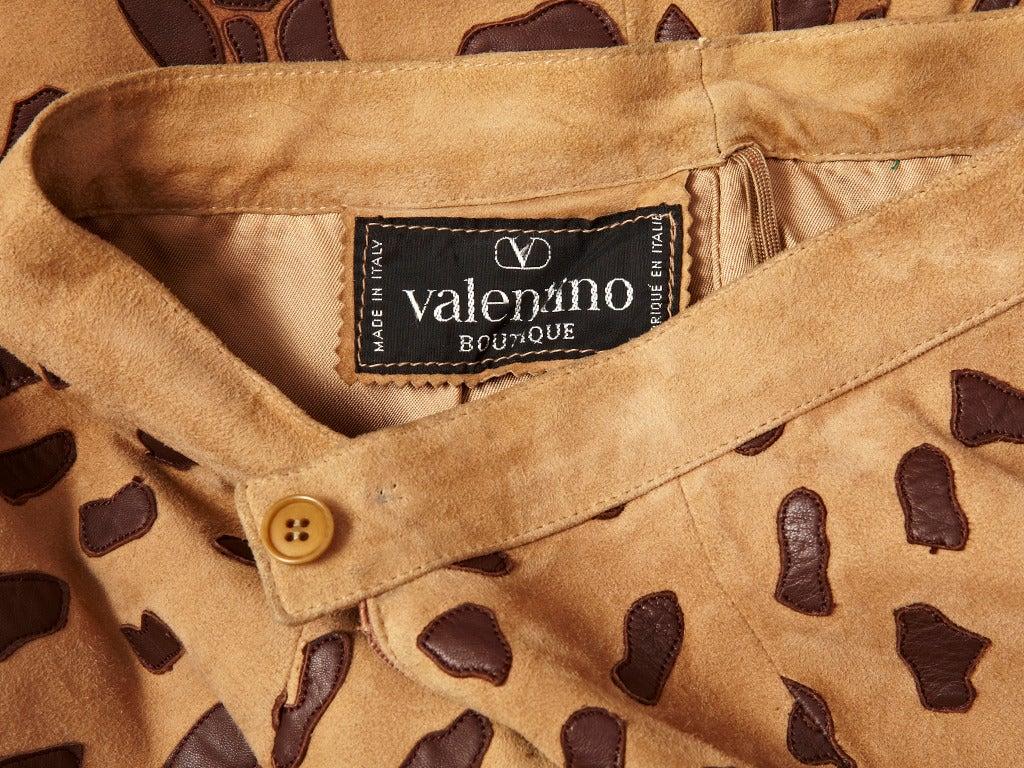 valentino Suede Leopard Print Skirt 4