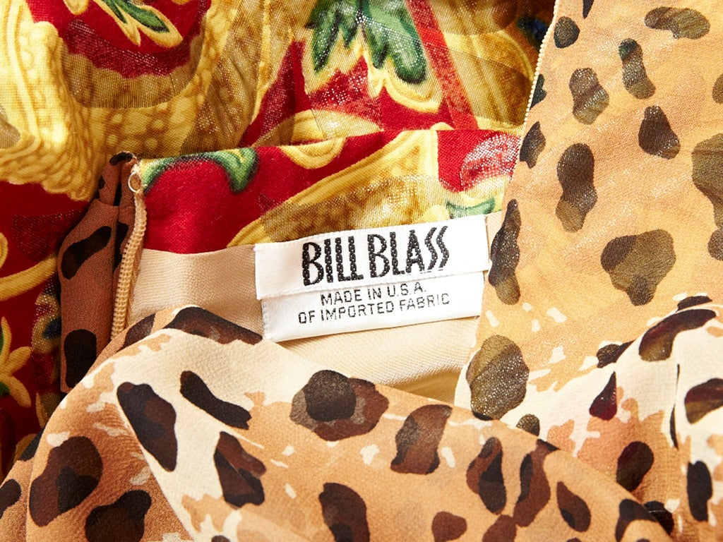 Bill Blass Baroque and Leopard Print Gown In New Never_worn Condition For Sale In New York, NY
