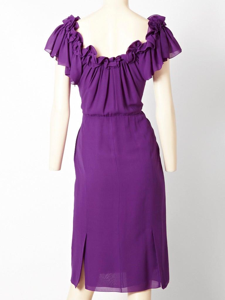 John Galliano for Dior Silk Crepe Dress 3