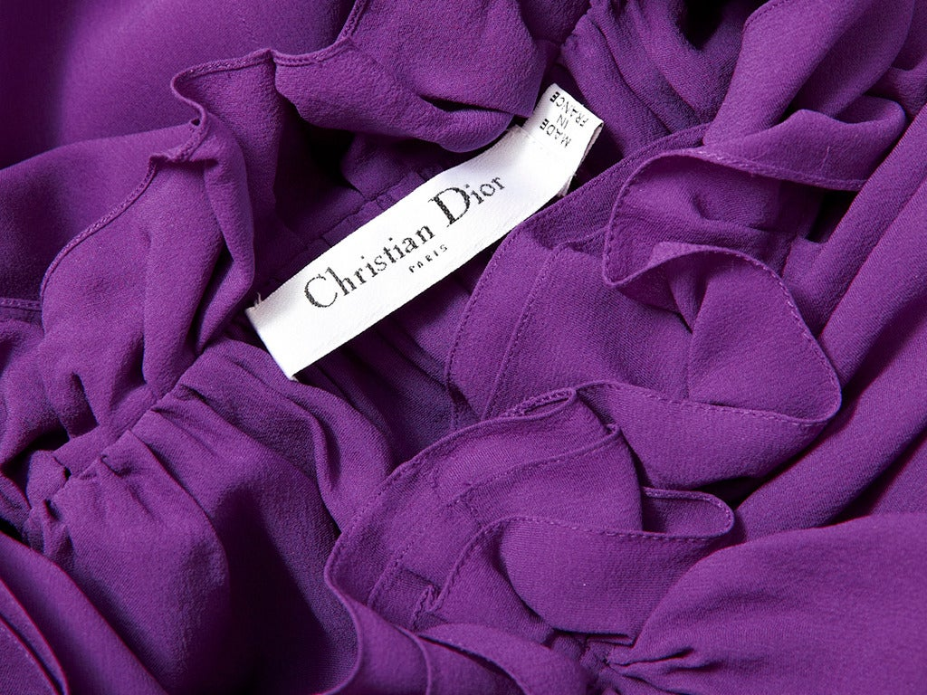 John Galliano for Dior Silk Crepe Dress In Excellent Condition For Sale In New York, NY