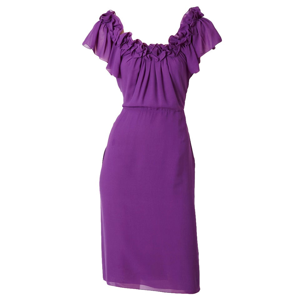 John Galliano for Dior Silk Crepe Dress 1
