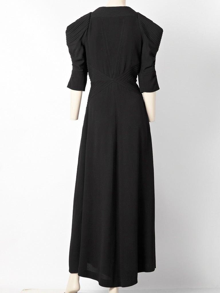 Black Fringe Maxi Skirt