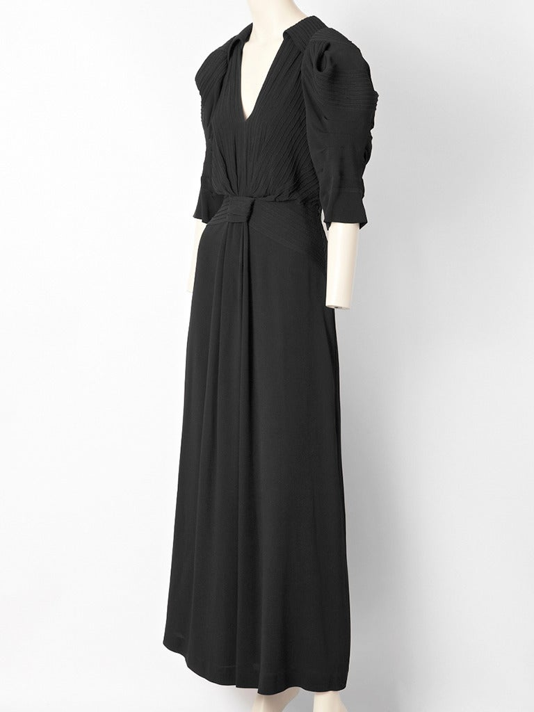 Gucci Crepe 1940 S Inspired Gown At 1stdibs
