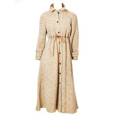 Geoffrey Beene Wool Tweed Coat