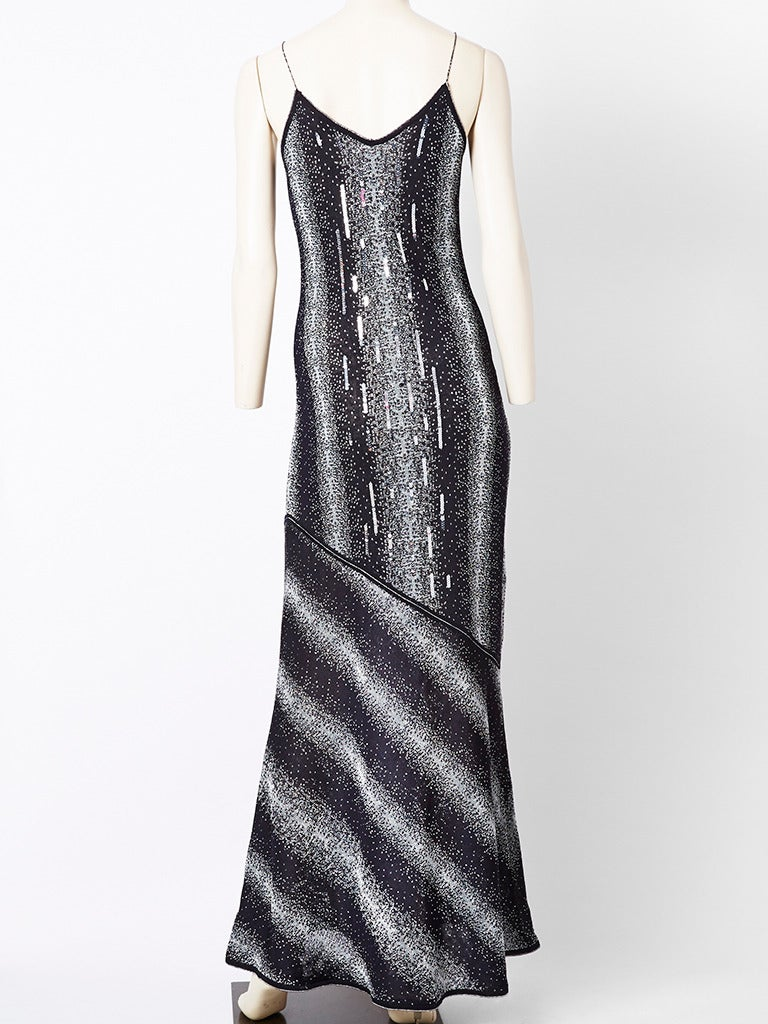 John Galliano Bias Cut Lurex Knit Evening Dress with  Sequins 3